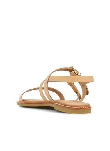 Divarese Divarese 5025181 Deri Kemik Renkli Kadın Sandalet Vizon